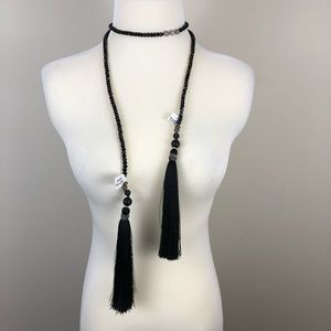 NWT Free People Nakamol Beaded Lariat Necklace